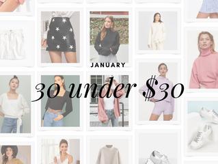 January 30 Under $30