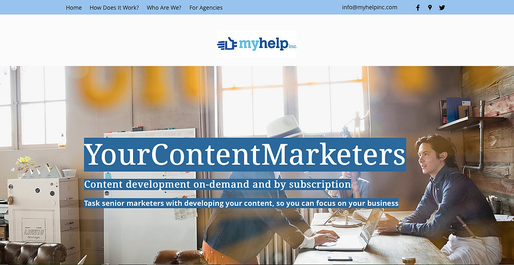 YourContentMarketers website screen cap
