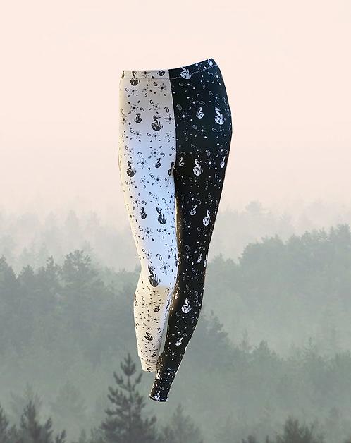 roman paisley print split leggings