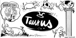 Taurus Horoscope Cartoon