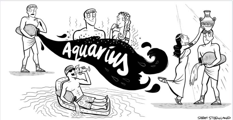 Aquarius Horoscope Cartoon