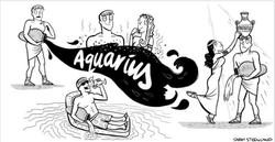 Aquarius Horoscope Cartoon