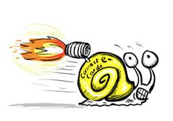 Fast Snail Cartoon