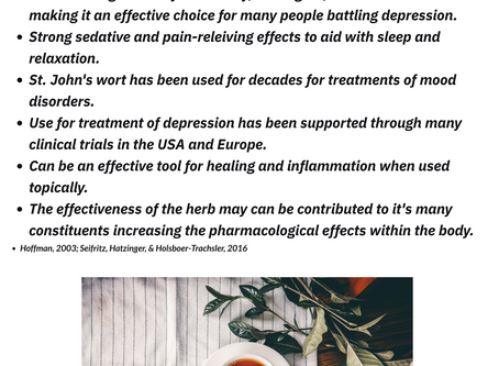 Botanical Approach to Depression: St. John's Wort