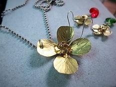 Handmade Brass Flower Pendant