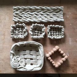 weave with clay