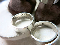 Silver Rings with Personal Inscription (