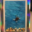 4x6 Sea Turtle framed in silver
