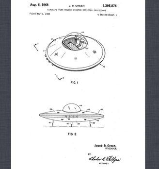 Flying Saucer Patents (German Patent Filed 4/20/98, Published 9/23/99