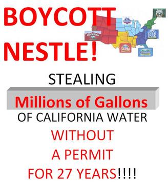 Boycott Nestle/Arrowhead Water ~ End Drought in California!