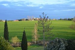 vue sur le village depuis la piscine