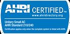 AHRI Certified Badge Unitary Small AC