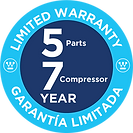Limited Warranty 5/7 years badge