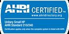 AHRI Certified Badge Unitary Small HP
