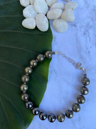 Hematite n pyrite men's bracelet.jpg