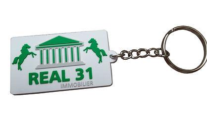 Porte clés silicone 2D
