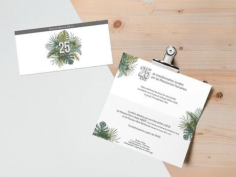 Crétion graphique invitations