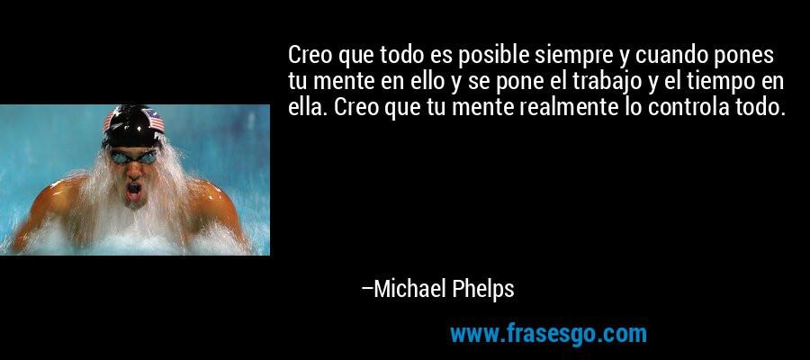 Michael Phelps. Nadador: El deportista olímpico más condecorado de todos los tiempos. 23 medallas olímpicas de oro.