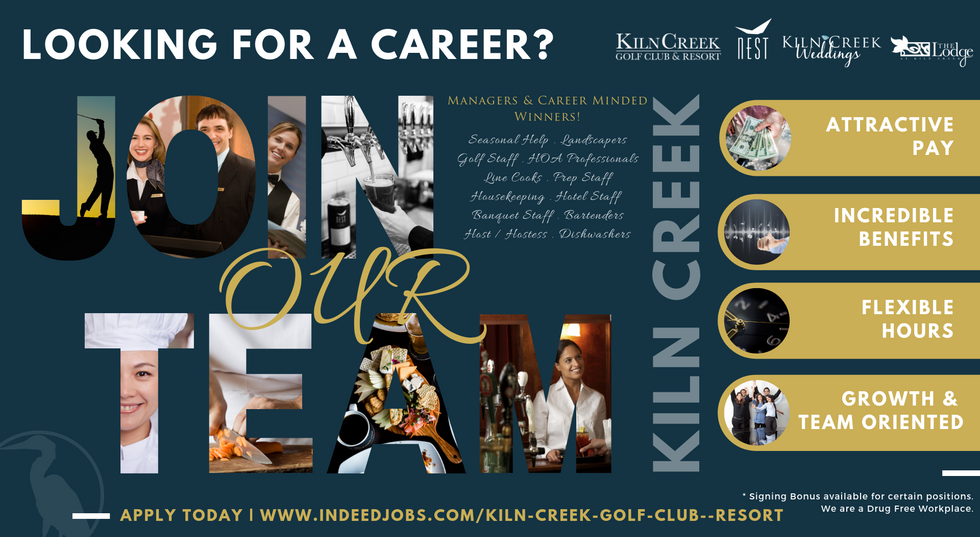 Kiln Creek is Hiring!