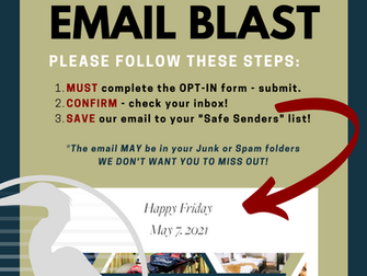 NEW Email Blast is HERE...