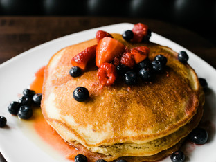 Fruit Topped Pancakes