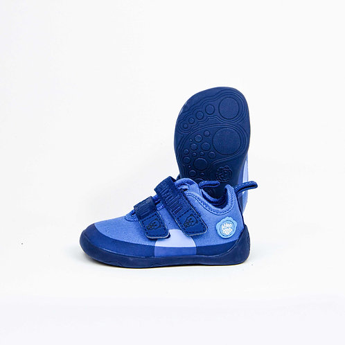 Affenzahn Bear Minimal Low-cut Cotton Blue Velcro