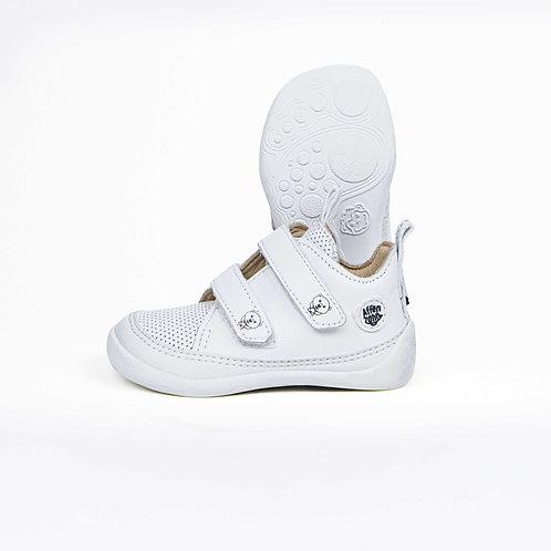 Affenzahn Polar Bear Minimal Low-cut Leather White Velcro