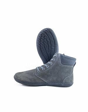 Groundies Liverpool Leather Dark Grey Laces