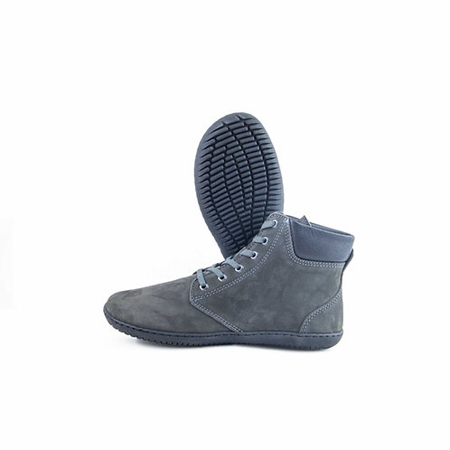 Groundies Liverpool Leather Dark Grey Laces