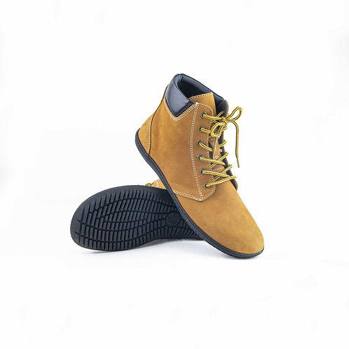 Groundies Liverpool Leather Yellow Laces