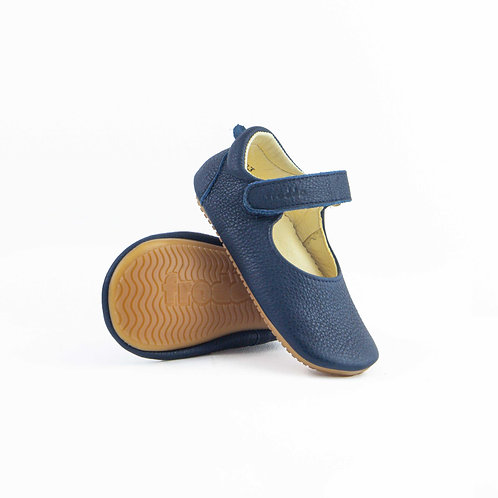 Froddo Pre Walker Ballerina Leather Dark Blue Klett