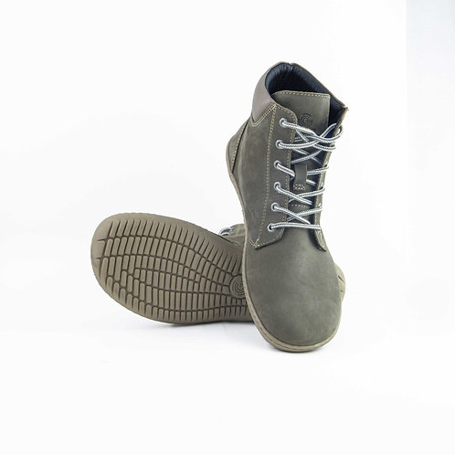 Groundies Liverpool Leather Taupe Laces