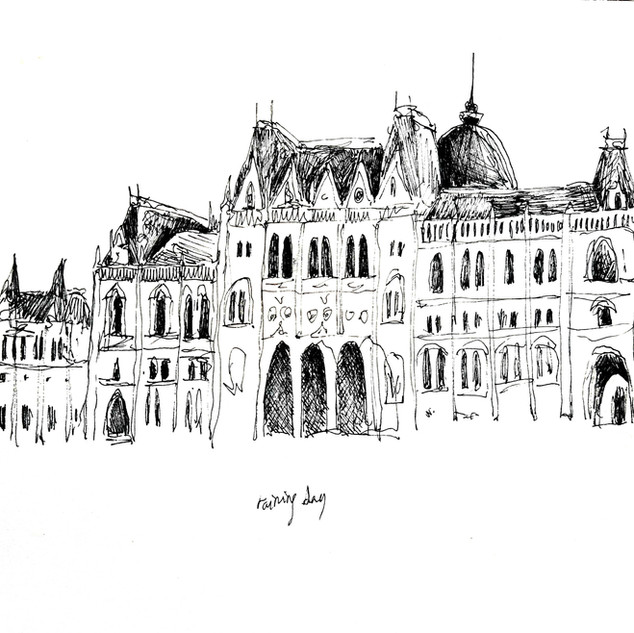 Budapest pluvieuse