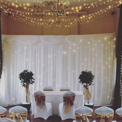 6m by 3m Ivory LED Star Curtain