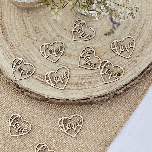 'Love' Wooden Confetti