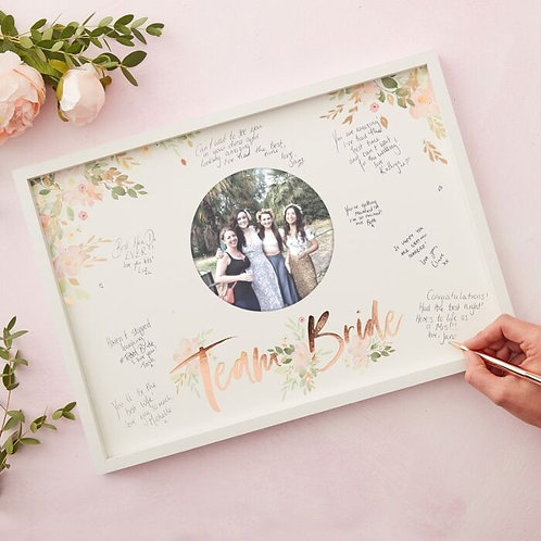 Ginger Ray - Floral Team Bride Hen Party Guest Book Frame