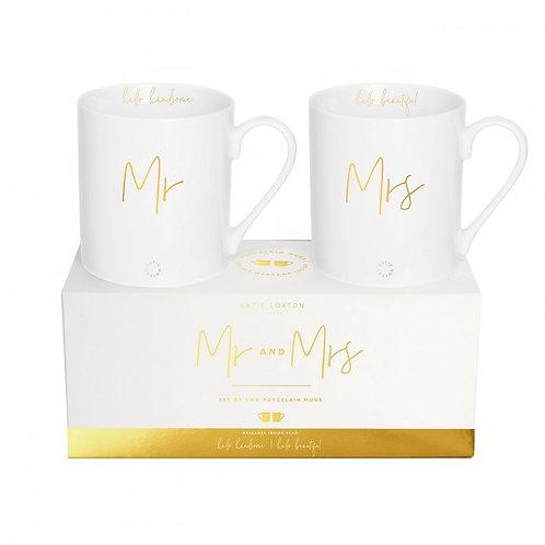 Katie Loxton Porcelain Mr & Mrs Gift Set