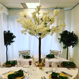 4ft White Blossom Trees