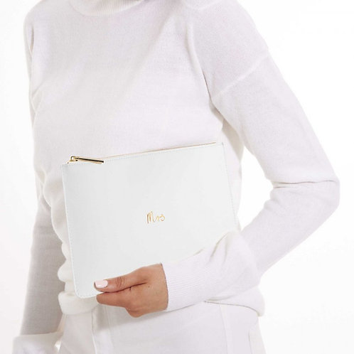 Perfect Bridal Pouches - 'Mrs'