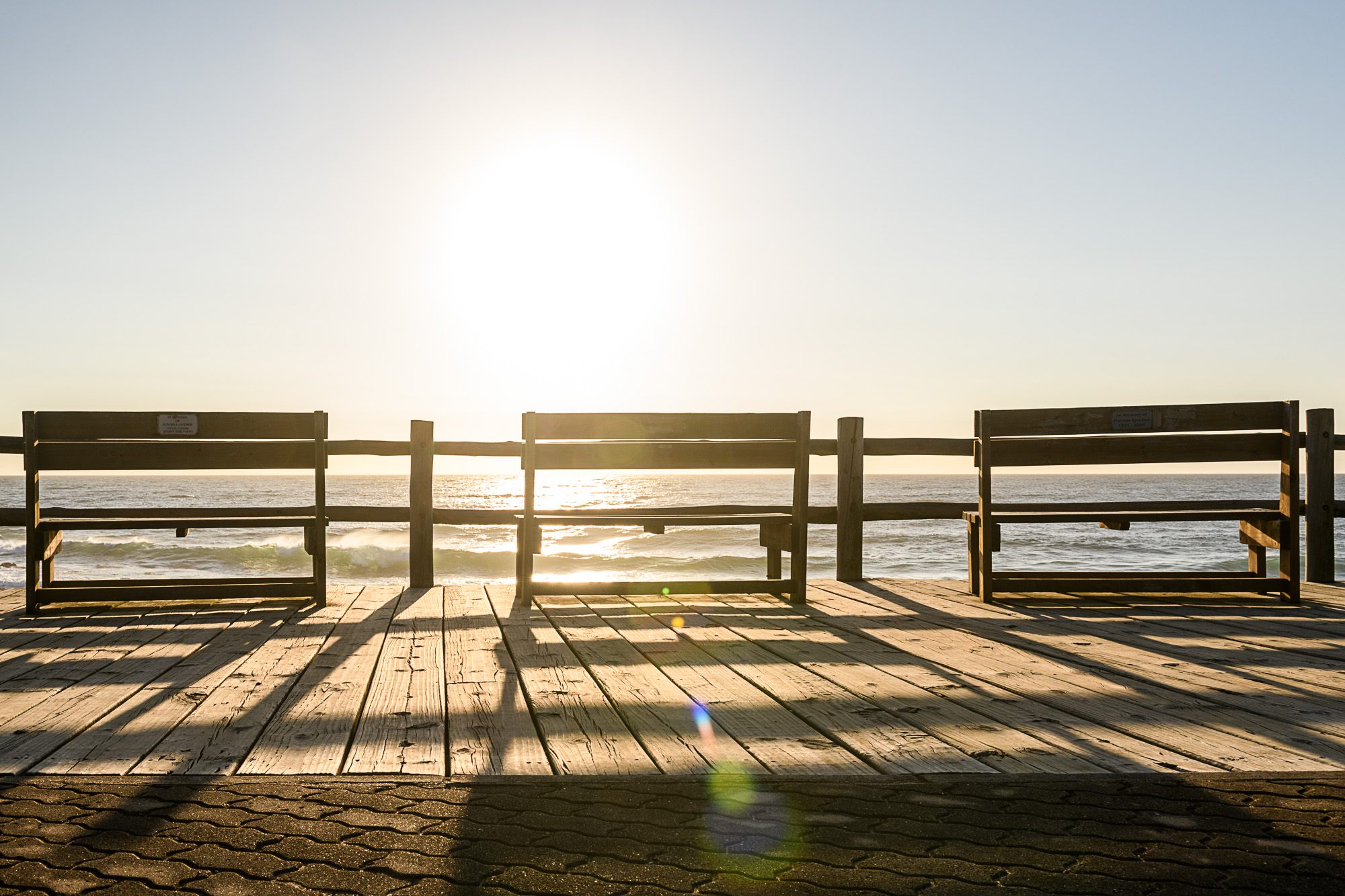 erected benches in memory of