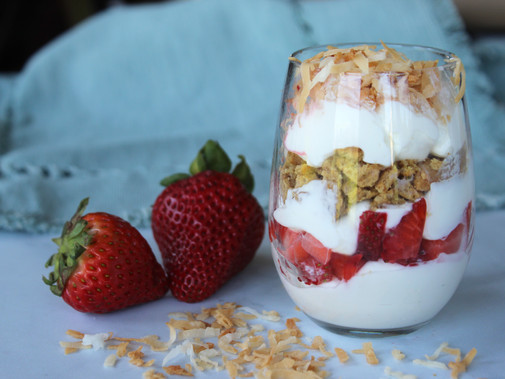 Toasted Coconut Strawberry Parfait