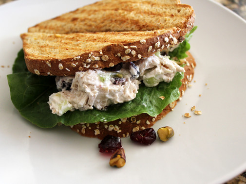 Pistachio Cranberry Chicken Salad