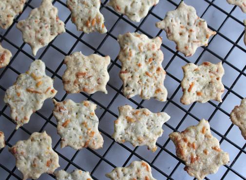 Parmesan Herb Sourdough Crackers