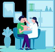 女医による診療