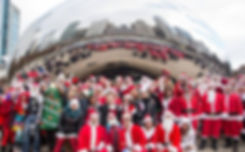 SantaCon Chicago At Bean