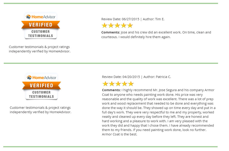 Read our client reviews and hear the great things they speak about our company and job