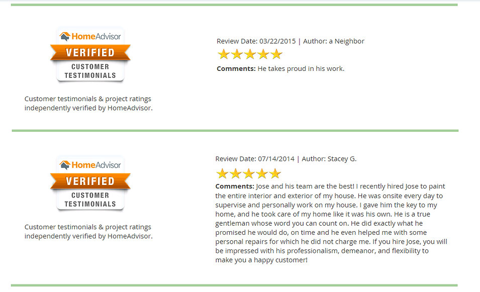 Read our client reviews and hear the great things they speak about our company and jobs