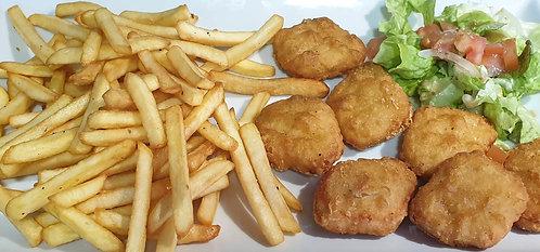 Nuggets de Poulet, Frites