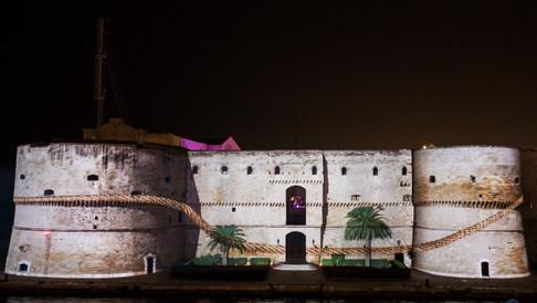 video mapping trofeo del mare Taranto