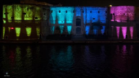 Video Mapping natalizio Castello Aragonse Taranto